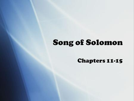 Song of Solomon Chapters 11-15. Flight  Milkman's flight away from Michigan brings him to his ancestral home  With Sweet Milkman dreams of flying over.
