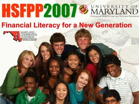 HSFPP2007 Financial Literacy for a New Generation.