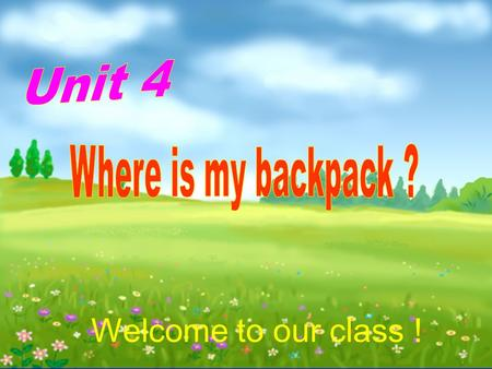 Welcome to our class !. 1.2. 3. 4. 5. What's this?