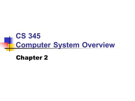 CS 345 Computer System Overview Chapter 2. BYU CS 345Chapter 2: OS Overview2 CS 345 Stalling's Chapter#Project 1: Computer System Overview 2: Operating.
