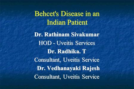 Behcet's Disease in an Indian Patient