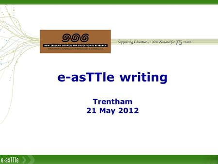 Introduction to e-asTTle writing