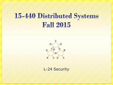 L-24 Security 1. Today's Lecture Internet security weaknesses Establishing secure channels (Crypto 101) Key distribution 2.