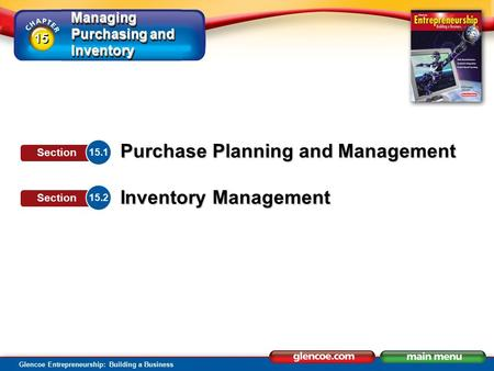 Section Objectives Describe the importance of planning purchases.