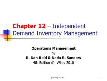 demand inventory management