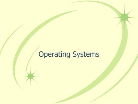 Operating Systems. An operating system (os) is a software program that enables the computer hardware to communicate and operate with the computer software.