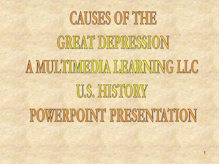 A MULTIMEDIA LEARNING LLC POWERPOINT PRESENTATION