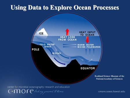 Using Data to Explore Ocean Processes Koshland Science Museum of the National Academy of Sciences.