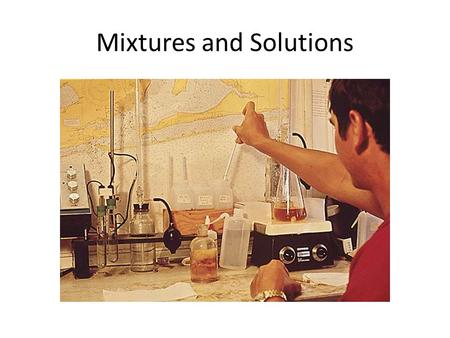 Mixtures and Solutions. What is Matter Made of Molecule- The smallest part of a substance that is made up of two or more atom is a molecule.