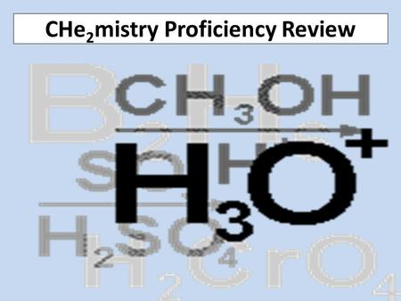 CHe 2 mistry Proficiency Review. Pre-review Questions 1.A student ran tests on a mystery substance and found that is has a definite volume, high density,