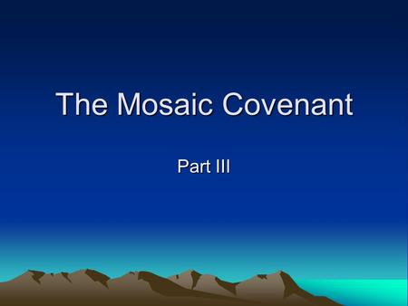 the abrahamic and mosaic covenants essay The ot cannot be considered complete without the davidic covenant the davidic covenant, aside the sinaitic covenant, is essentially the touchstone of the ot and it dovetails with the covenants made before it - the abrahamic and mosaic covenants.