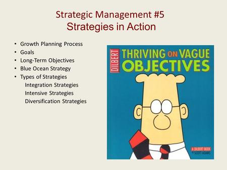 Strategic Management #5 Strategies in Action