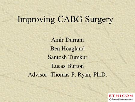 Improving CABG Surgery