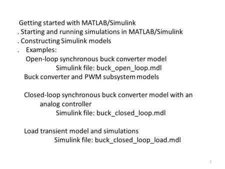 Getting started with MATLAB/Simulink