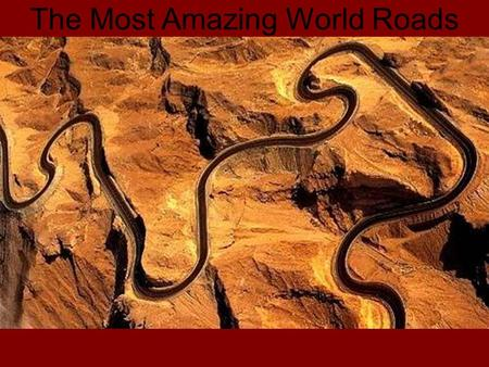 The Most Amazing World Roads. Iroha-zaka road in Japan are 48 curves and in each there a plate with one of the 48 syllables of Japanese Hiragana alphabet.