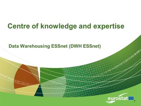 11 Centre of knowledge and expertise Data Warehousing ESSnet (DWH ESSnet)