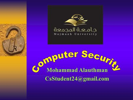 Mohammad Alauthman 1/22/20162 This 3-credit first course for computer science & IT majors, which provides students the basic understanding.