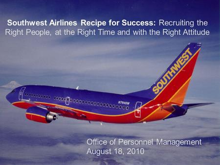 Southwest airlines in baltimore operation management