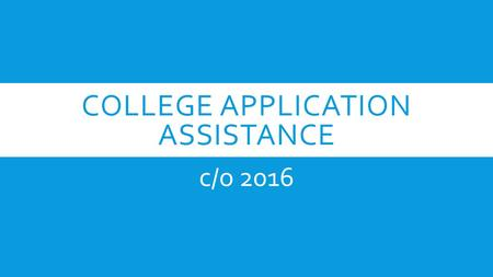 COLLEGE APPLICATION ASSISTANCE c/o 2016. STEP #1  Go to: www.unf.edu/admissions/applynow/ **Apply as a new applicant**