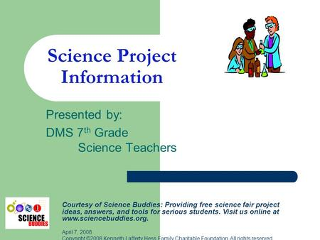 Science Project Information