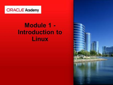 Module 1 - Introduction to Linux. Users must log-in Linux is case sensitive File and Directories naming conventions (No spaces!) Files and Directories.