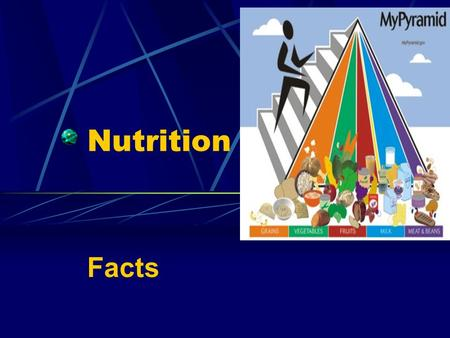 Nutrition Facts What is a nutrient? A nutrient is a substance used in an organism's metabolism which must be taken in from the environment.