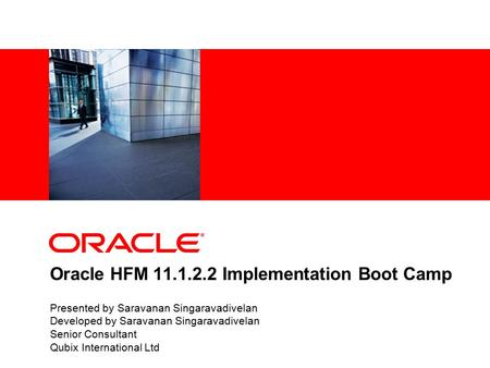Oracle HFM Implementation Boot Camp