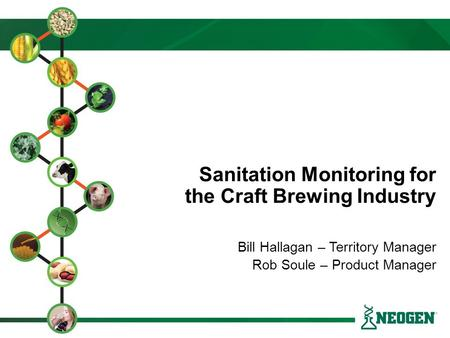Sanitation Monitoring for the Craft Brewing Industry