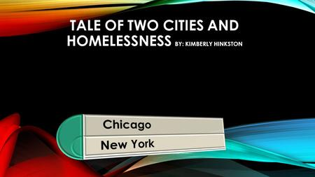 TALE OF TWO CITIES AND HOMELESSNESS BY: KIMBERLY HINKSTON.