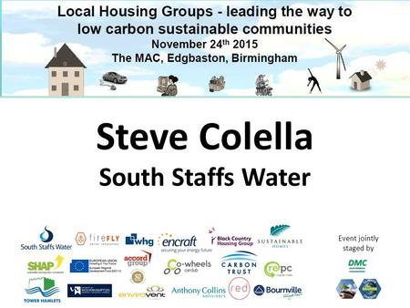 Event jointly staged by Steve Colella South Staffs Water.