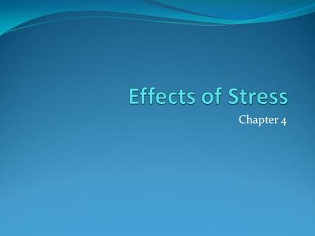 Chapter 4. Warning Signs of Stress Cognitive Symptoms Memory problems Inability to concentrate Anxious Worry Forgetful.