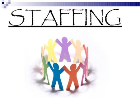 INTRODUCTION Staffing is defined as a managerial function of filling and keeping filled positions in the organisation structure. Staffing requires functions.