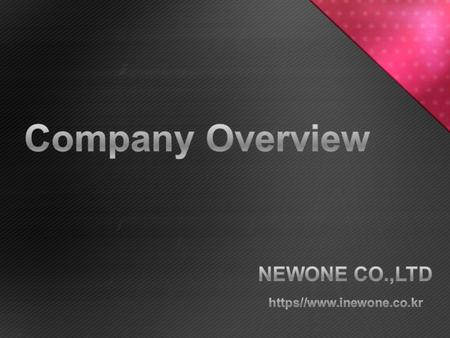 What's NEWONE ? Areas of Business Product Lines Share the Vision.
