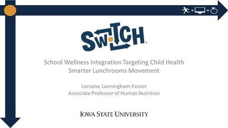 School Wellness Integration Targeting Child Health Smarter Lunchrooms Movement Lorraine Lanningham-Foster Associate Professor of Human Nutrition.