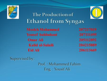 The Production of Ethanol from Syngas