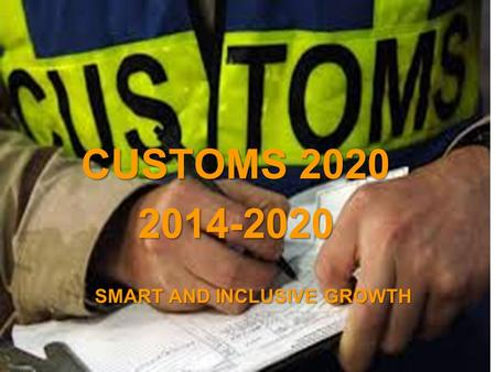 A project implemented by the HTSPE consortium This project is funded by the European Union SMART AND INCLUSIVE GROWTH CUSTOMS 2020 2014-2020.