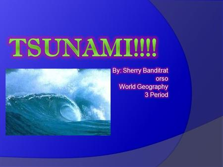 Disaster Analysis What Caused the Tsunami? The Tsunami was caused by the shifting of the plate tectonics (also called an earthquake). Thus creating a.