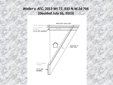 Waller v. ATC, 2013 WI 77, 833 N.W.2d 764 (Decided July 16, 2013)