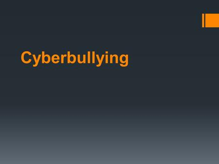 Cyberbullying. The 21st-century bully doesn't hang out on the street corners looking to shake kids down for their lunch money  Cyberbullies are hiding.