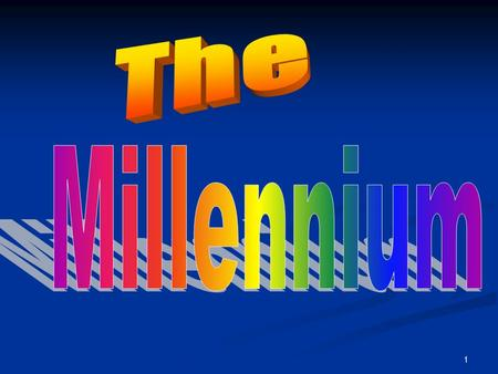 "1. 2 Definition The Millennium The word ""millennium"" comes from: Mille … means ""1000"" annum … means ""Year"" Millennium…..means 1,000 Years."