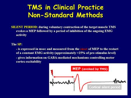 TMS in Clinical Practice Non-Standard Methods