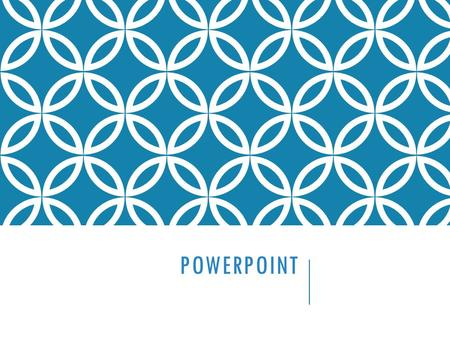 POWERPOINT. Presentation Software - A type of software (like PowerPoint) that is used to create professional presentations that are usually shown using.