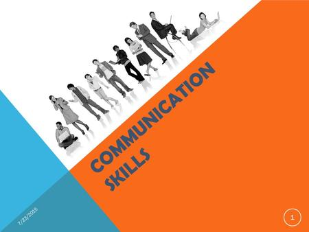 COMMUNICATION SKILLS 7/23/2015 1. A process through which two or more people exchange information 7/23/2015 2.