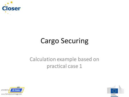 Calculation example based on practical case 1
