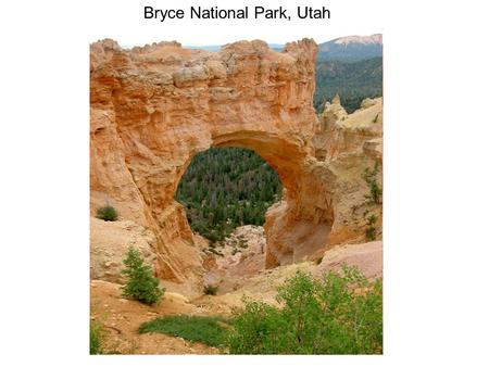 Bryce National Park, Utah. Water Erosion on Mars.