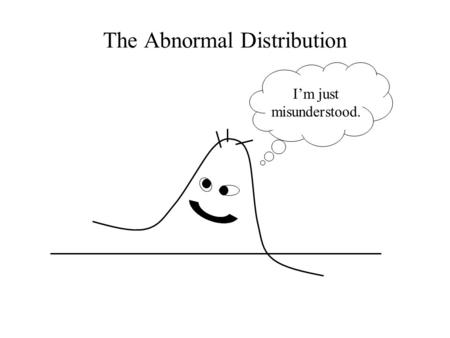 The Abnormal Distribution I'm just misunderstood..