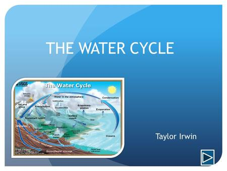 THE WATER CYCLE Taylor Irwin.