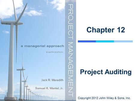 Copyright 2012 John Wiley & Sons, Inc. Chapter 12 Project Auditing.