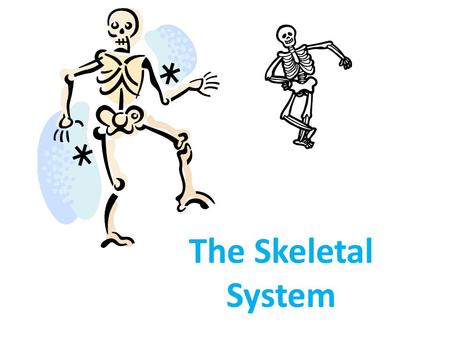 The Skeletal System. Fun Facts A giraffe has the same # of bones in the neck as humans do Bones are 14% of your body weight Bone is 5x as strong as steel.
