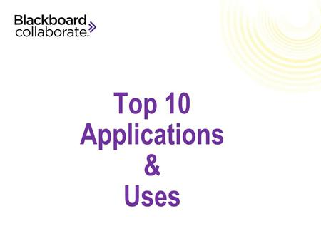 Top 10 Applications & Uses. Help me be more effective. Help make my life easier.